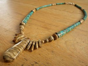 Ma'an Shan Turquoise with Picture Jasper & Jet