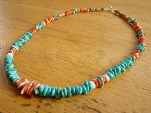 Nacozari Turquoise with Spiny Oyster Shell & White Clam Shell