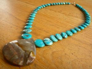 Nacozari Turquoise with Mexican Agate